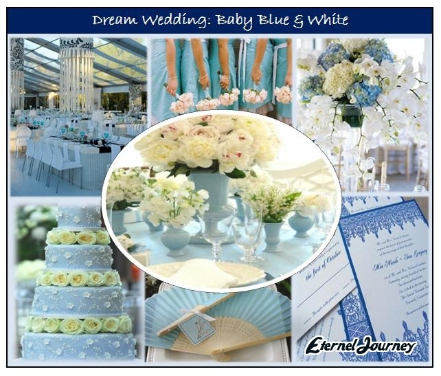 Wedding Theme Design Baby Blue White