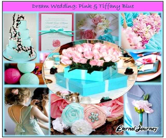 Summer wedding theme design pink tiffany blue for Wedding pink and blue