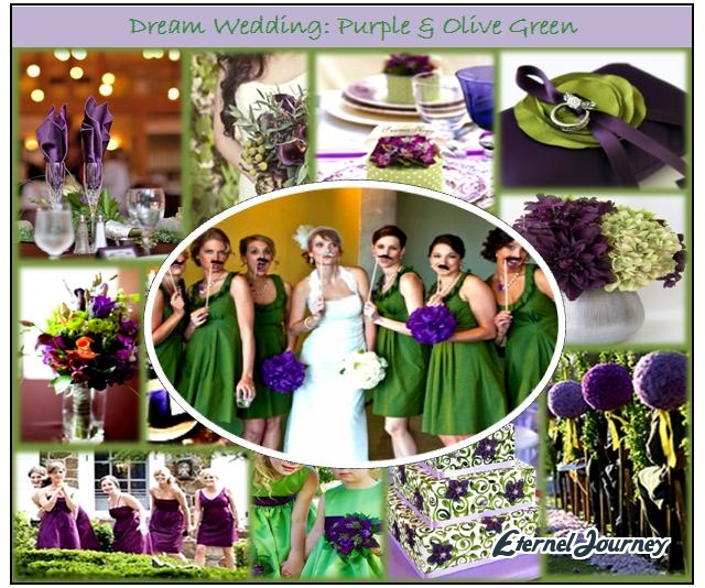 Eggplant And Red And Purple Wedding Ideas: Autumn Wedding Theme & Design: Purple & Olive Green