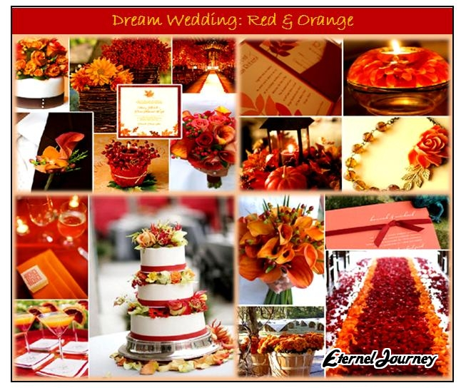 Autumn Wedding Theme Design Red Orange